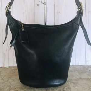 Large coach Bleecker bucket duffle bag